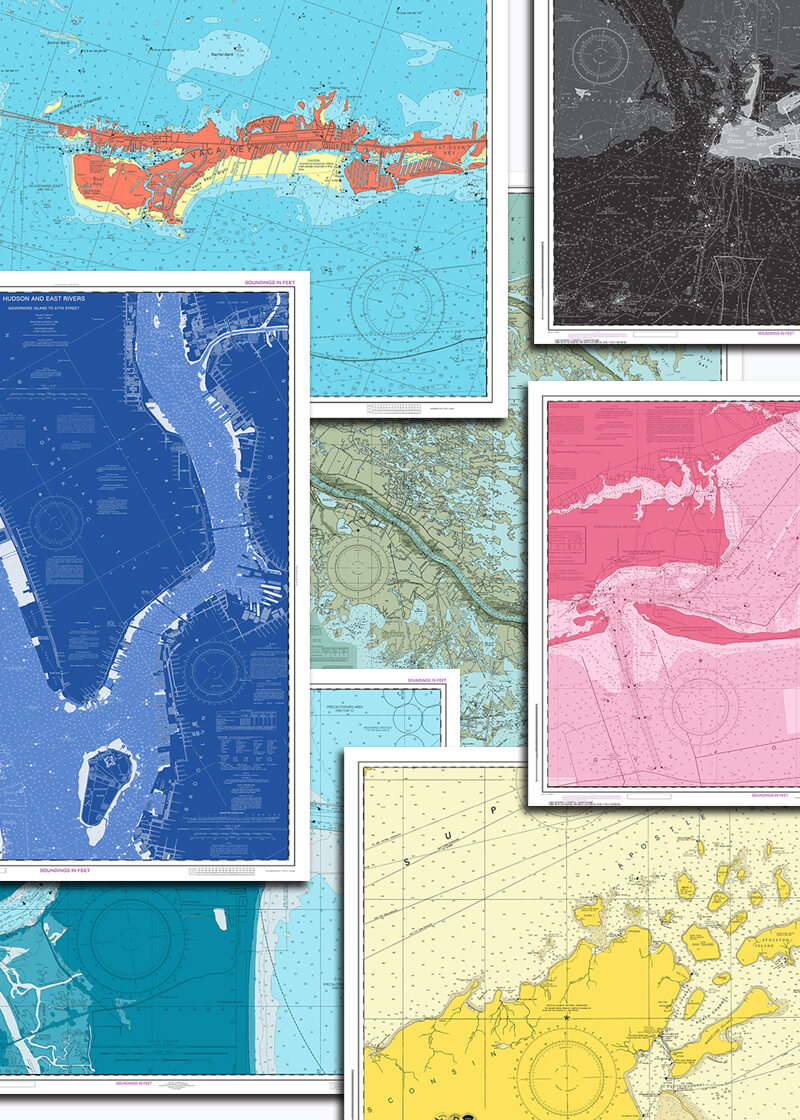 cape cod nautical chart wallpaper